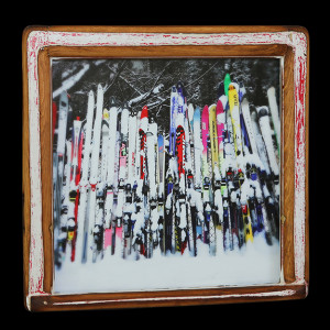 Snowy Skis (1) - Click Image