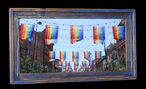 Rainbow Flags (Blue) 2 - Click Image