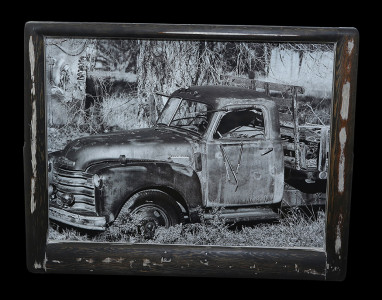 Lloyd (6) - Black & White - Ebony Stain Frame - Click Image